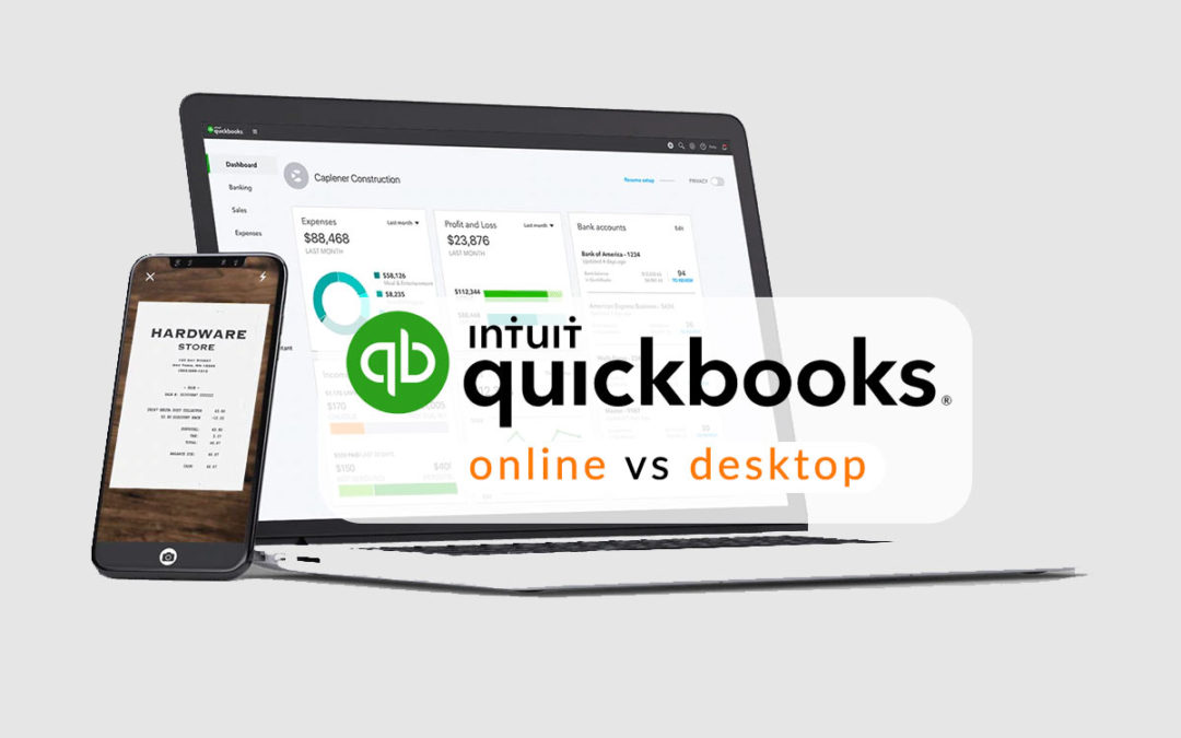 quickbooks online vs desktop - which one is right for you